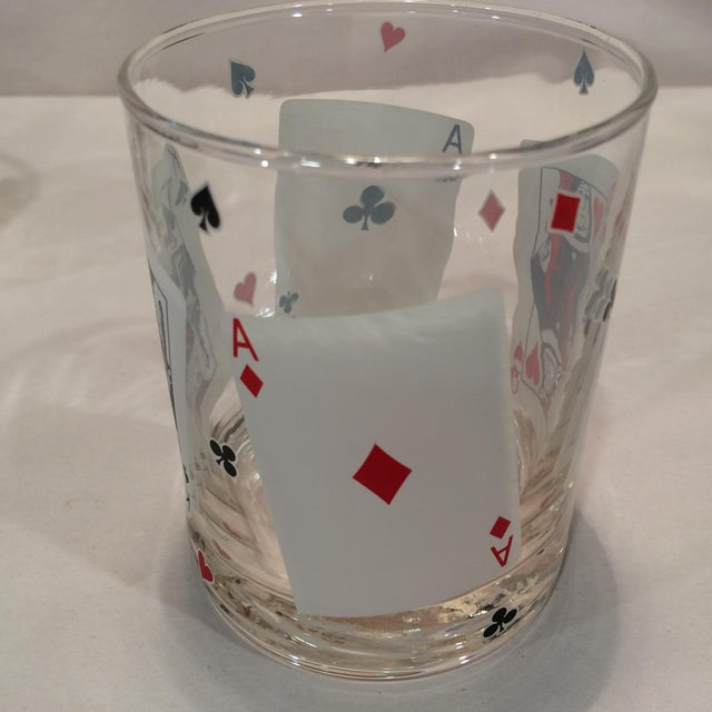 Poker Playing Card Lowball Glasses- Set of 4 - Image 3 of 11