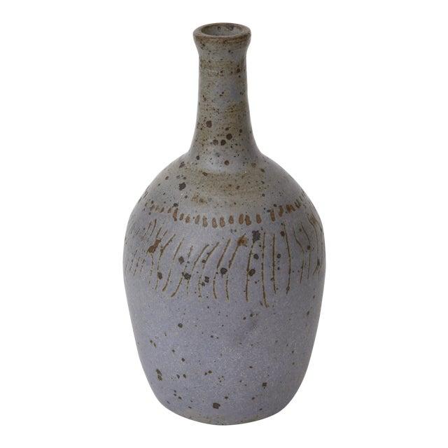 Mid-Century Modern Ceramic Bottleneck Vase - Image 1 of 3