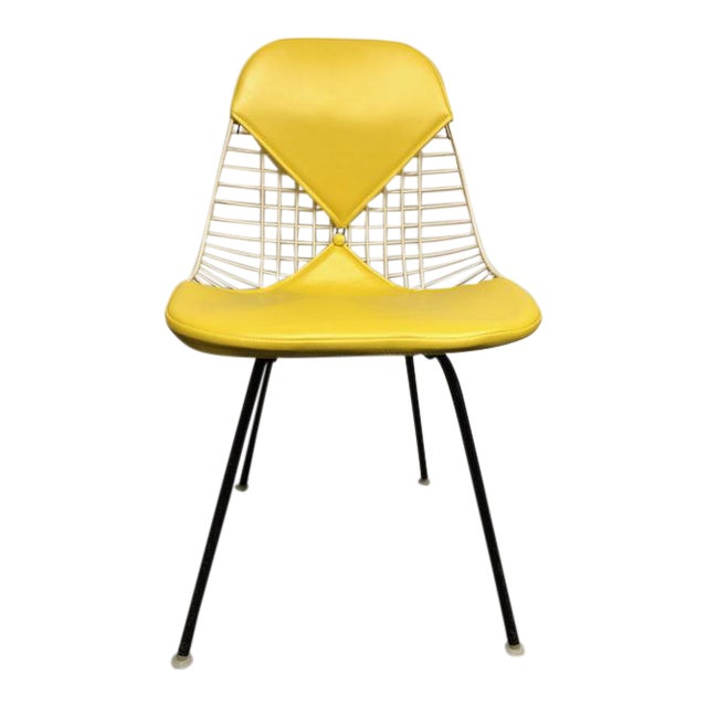 Herman Miller - Eames Mid-Century Modern Yellow Bikini Wire Chair For Sale