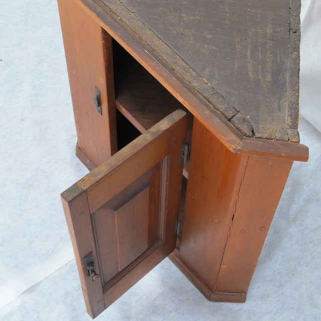 Cherry Wood Corner Cupboard - Image 8 of 11