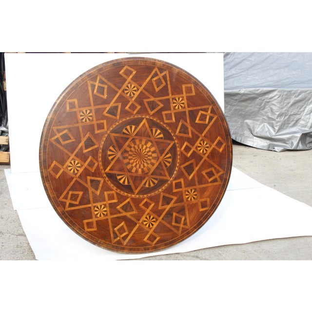 1980s 1980s Spanish Parquetry Table For Sale - Image 5 of 8