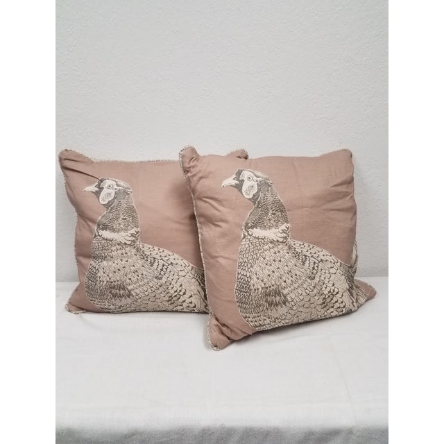 Game Bird Pillows - A Pair For Sale - Image 10 of 10