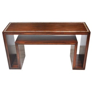 Modern Rosewood With Mother of Pearl Entry Sofa Table For Sale