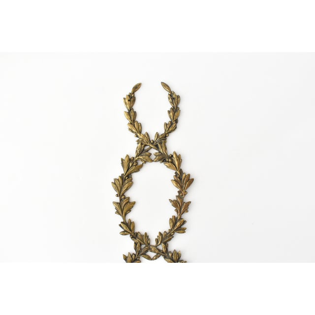 French Antique French Ormolu Cornucopia Garland Ornament For Sale - Image 3 of 8