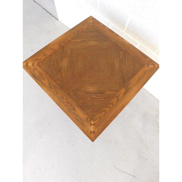 Romweber Romweber Viking Oak Pedestal Game or Dinner Table 32 X 32 For Sale - Image 4 of 9