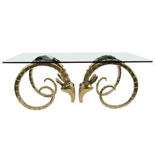 1970s Hollywood Regency Alain Chervet Great Ibex Dining Table