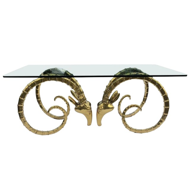 1970s Hollywood Regency Alain Chervet Great Ibex Dining Table For Sale