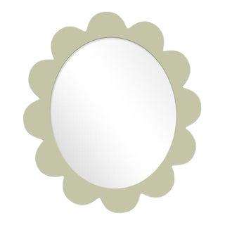 Fleur Home x Chairish Iris Oval Mirror in Cooking Apple Green, 37x32 For Sale