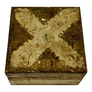 Antique Small Turn of the Century Florentine Box For Sale