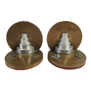 Army Corp Engineers Brass Bookends - A Pair For Sale