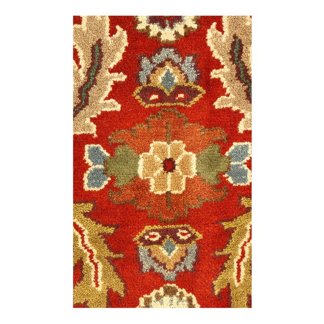 "Pasargad NY Hand-Knotted All Over Serapi Design Rug - 11'8"" x 14'10"" For Sale - Image 4 of 4"
