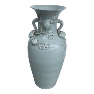 Monumental China Import Celadon Vase For Sale