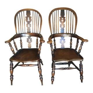 19th Century Windsor Armchairs a Pair