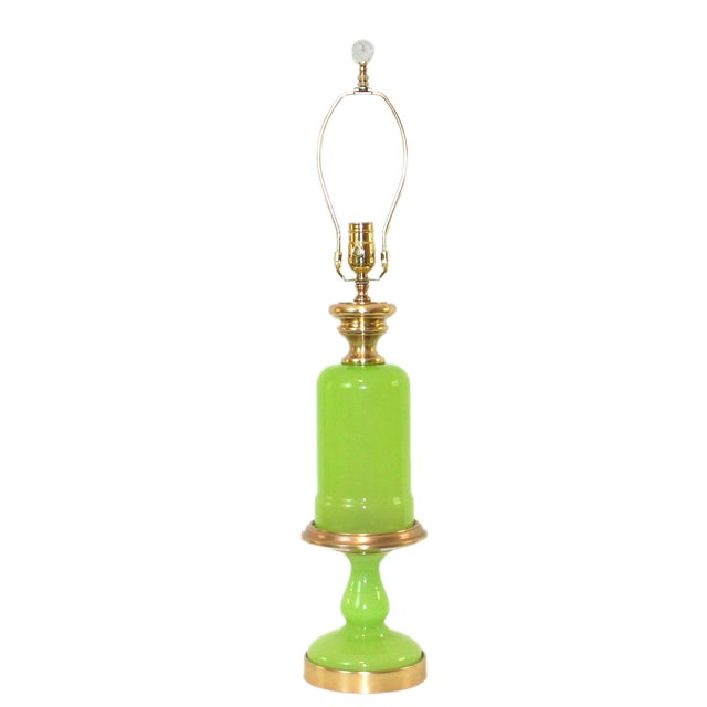 Cenedese Murano Green Opaline Glass Lamp - Image 1 of 9
