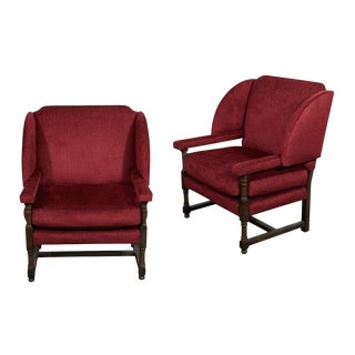 Customizable JW Wing Back Upholstered Chair For Sale