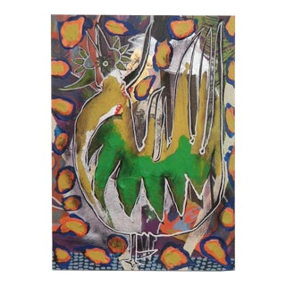 Abstract Rooster Modern Collage 1990s For Sale