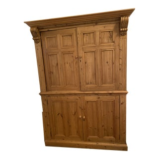 19th Century Vintage Belgian Pine Armoire For Sale