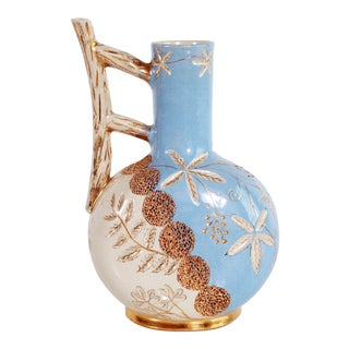 Antique 1887 Victorian Aesthetic Art Pottery Vase For Sale