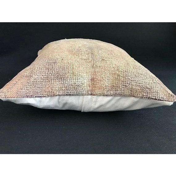 1960s 1960s Art Nouveau Handwoven Oushak Wool Pillow Case For Sale - Image 5 of 10
