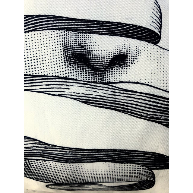 Cotton Modern Fornasetti Pillow From the Collection Theme and Variations For Sale - Image 7 of 12