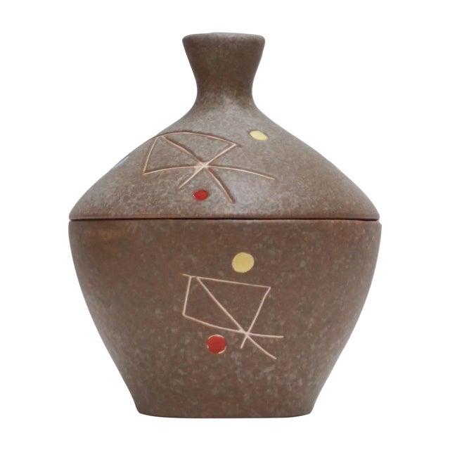 Geometric Ceramic Pot Sculpture For Sale