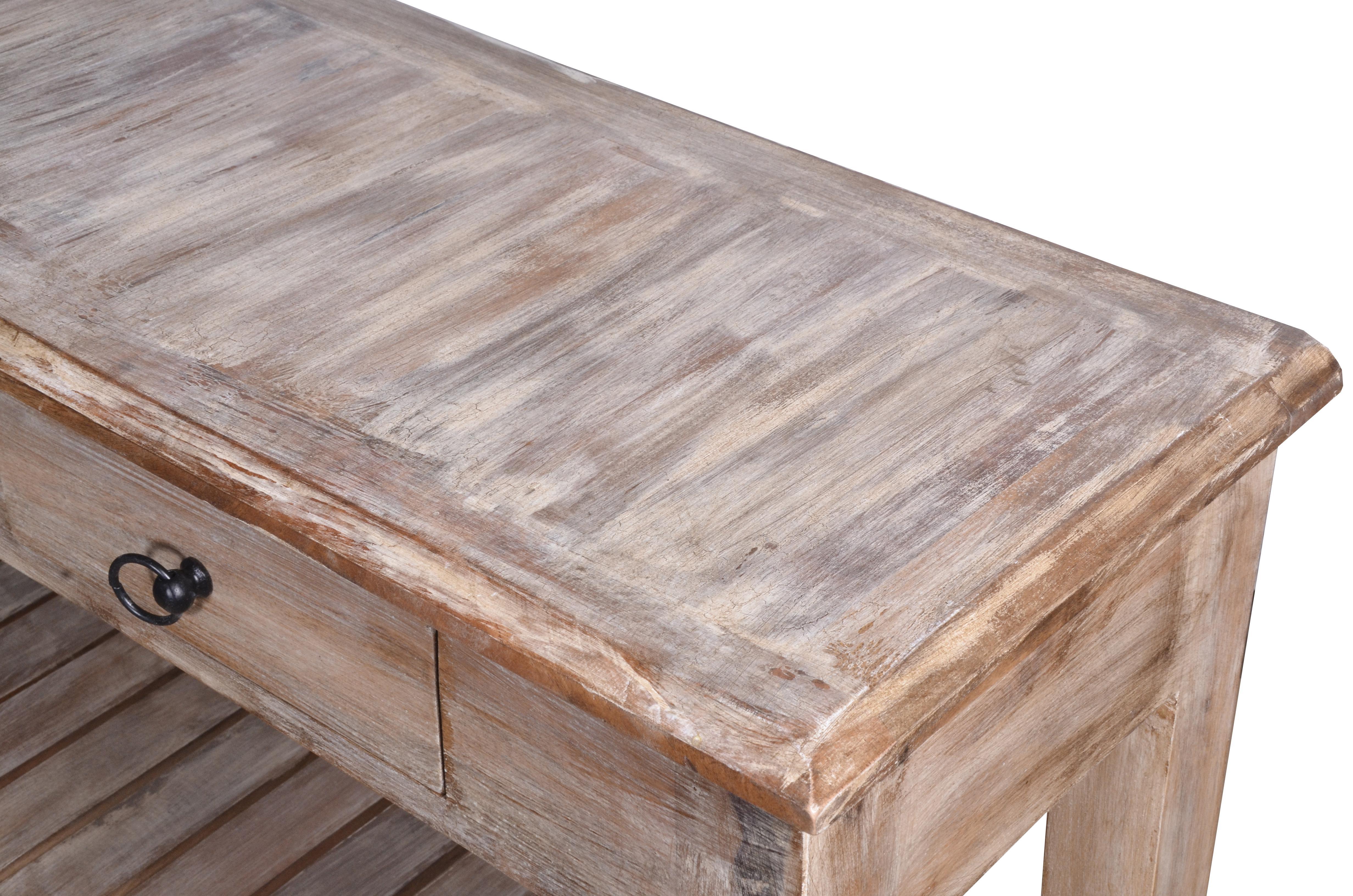 white washed mango wood. Wonderful White Mid 20th Century Duplin Entryway Whitewashed Mango Wood Console Table For  Sale  Image 5 Of To White Washed