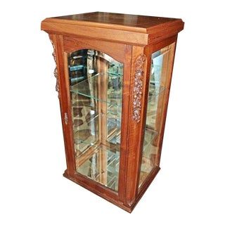 19th Century French Curio Vitrine Cabinet For Sale
