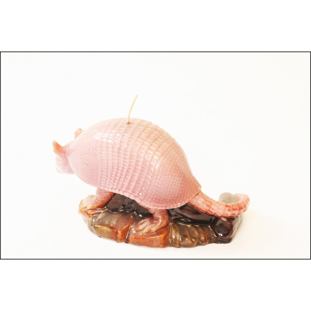 Vintage Pink Armadillo Wax Candle - Image 8 of 11