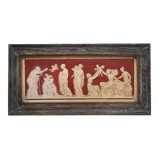 Danish Classical Terracotta Relief Panel For Sale