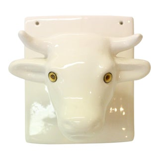 Decorative Wall Bull Bust Towel Rack For Sale