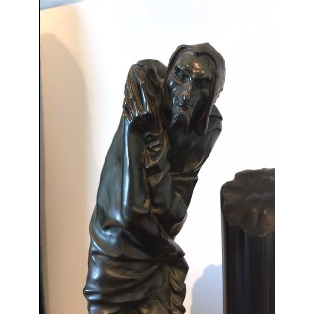 Bronze Sculpture Clock - Image 3 of 6