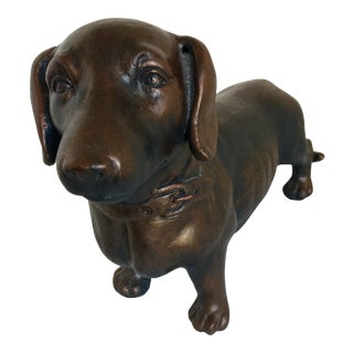 Faux Bronze Dachshund - Hand Painted