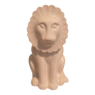 Vintage Mancer Italian Lion Cookie Jar For Sale