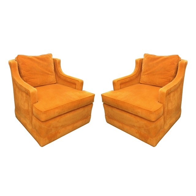 Textile 1960s Armchairs by Edward Wormley for Dunbar For Sale - Image 7 of 7