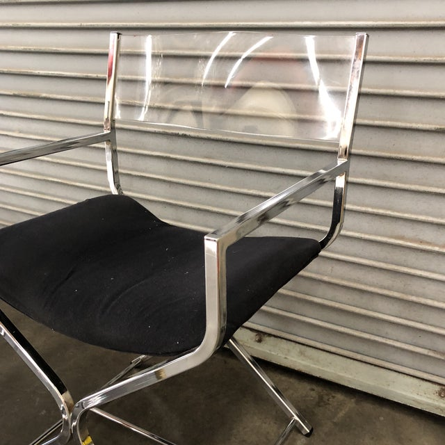 Contemporary 1970s Mid-Century Modern Milo Baughman Directors Chairs - Set of 4 For Sale - Image 3 of 7