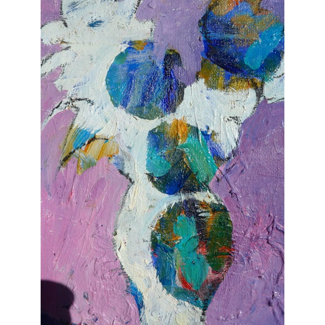 "Contemporary ""Lavender Flowers"" Oil Painting by Martha Holden For Sale In Los Angeles - Image 6 of 9"