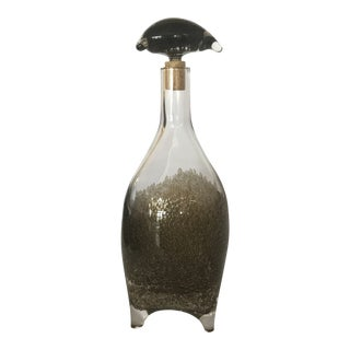 1970s Modern Bjorn Weckstrom for Nuutajarvi Nottsjo Gray Decanter For Sale