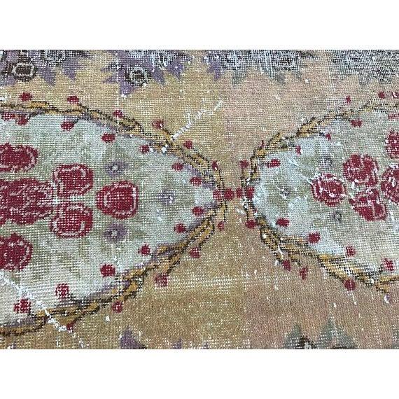 Floral Turkish Carpet - 2′11″ × 5′9″ For Sale - Image 5 of 6