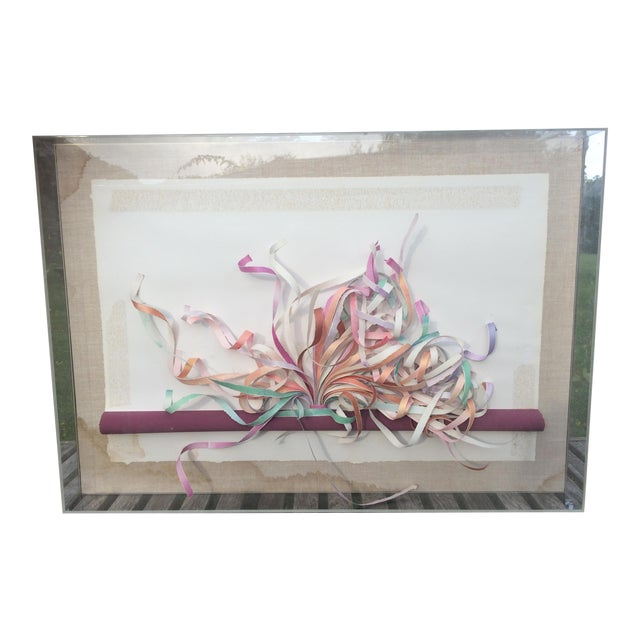Greg Copeland Paper Sculpture in Plexiglass Frame | Chairish