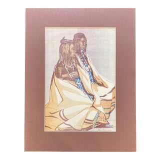 """1953 """"Young Basuto Men"""" Rosa Hope South African Figurative Lithograph For Sale"""