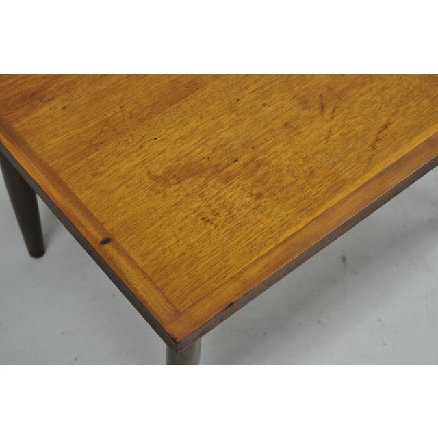 Mid Century Modern Walnut Rectangular Side Table For Sale - Image 4 of 11