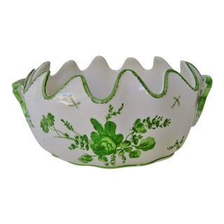 Italian Porcelain Jardiniere For Sale