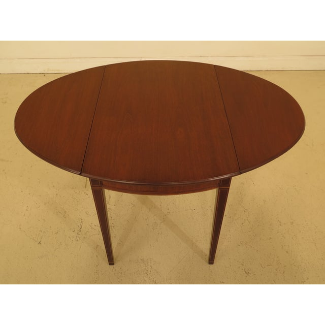 1940s Federal Kittinger Colonial Williamsburg Mahogany Pembroke Table For Sale - Image 10 of 13