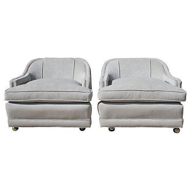 Mid-Century Gray Lounge Chairs - a Pair - Image 5 of 7