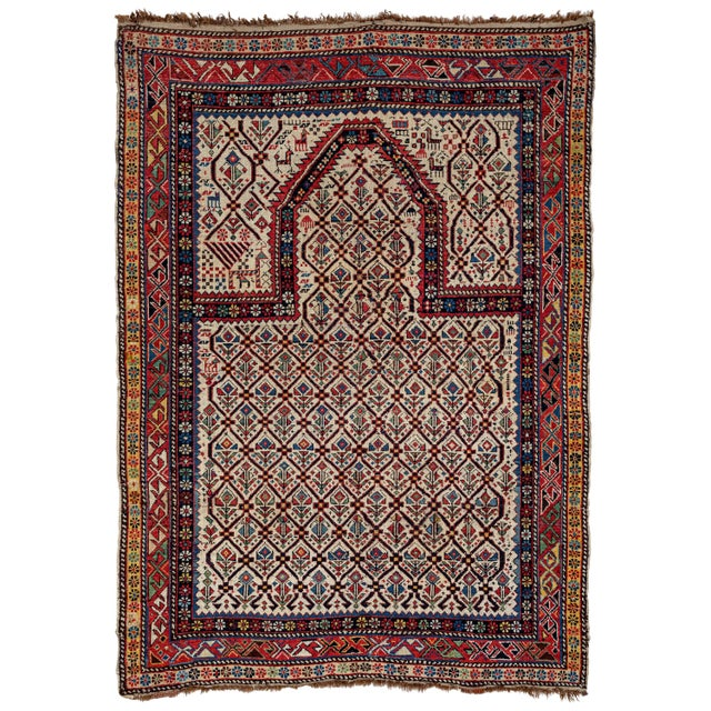 Shirvan 19th Century Caucasian Rug - 3′11″ × 5′6″ For Sale - Image 9 of 9