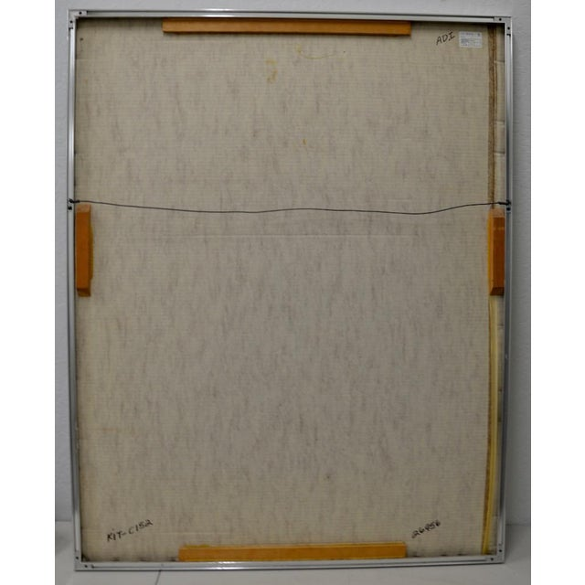 """Peter Kitchell """"Zorro"""" Monumental Abstract Watercolor c.1979 For Sale In San Francisco - Image 6 of 7"""