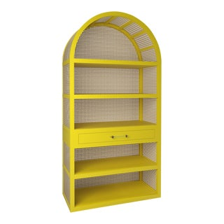 Leila Etagere Bookcase - Citron For Sale