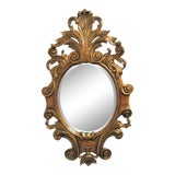 Image of Theodore Alexander Gilt Carved Burlwood Mirror For Sale