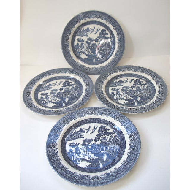 Blue Willow Churchill Dinner Plates - Set of 4 - Image 2 of 4
