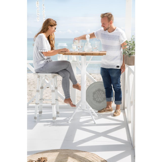 Modern Salsa Exterior Counter Stool - Dove White For Sale - Image 3 of 5